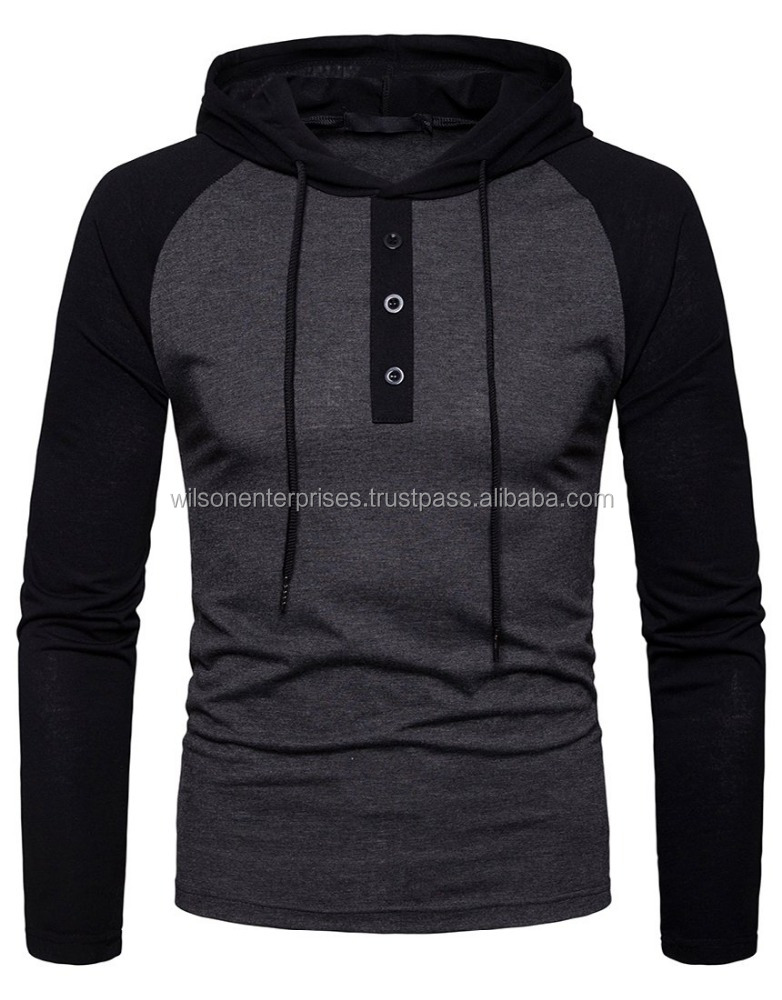 High Quality Men's Casual Wear Hooded Shirts Casual Long Sleeve T Shirt Hoodies