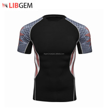 2018 Best Quality Sublimated Rush Guard / Short Sleeve Rush Guard