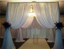 portable backdrop pipe and drape for wedding party show pipe and drapes
