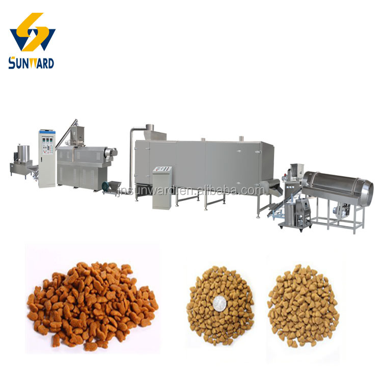 Jinan Sunward Double Screw Dry Pet Dog Food Extruder Machine Manufacturer Producer