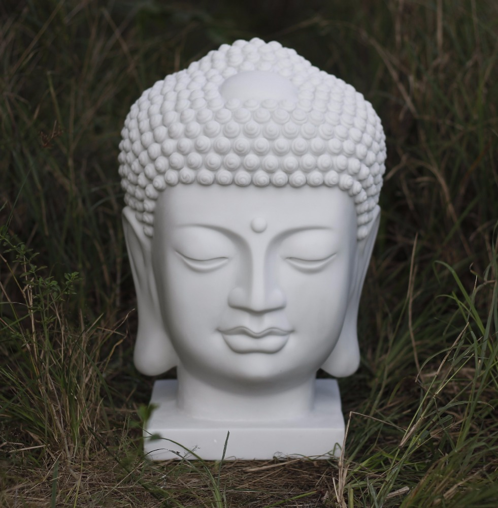 Buddha Head cast resin statue, Thai Buddha Head