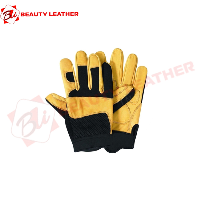 Hand Protective Goat Skin Leather Working Gloves