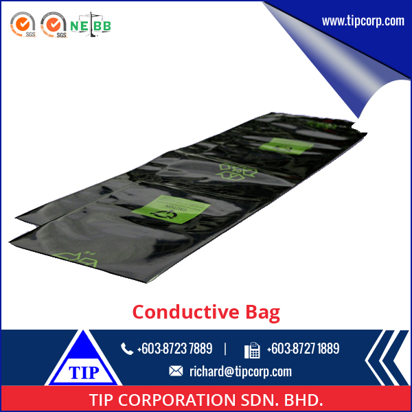 Wholesale Electronic Products Packaging Black LDPE Conductive Tubing Conductive bags
