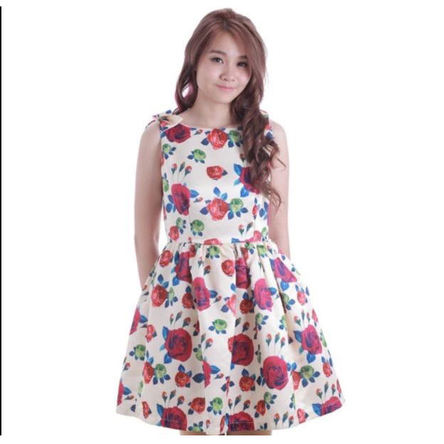 Casual Fashion Sleeveless Floral Dress