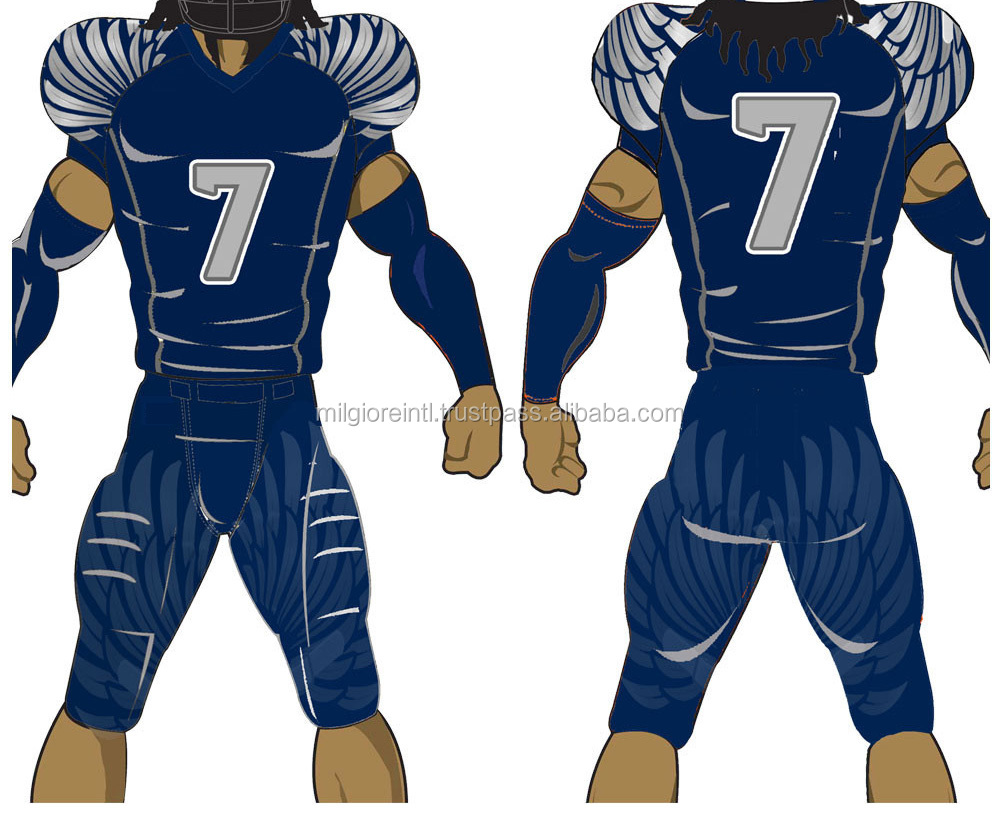 American football uniform jersey pant Custom made sublimation tackle twill free mock up Lowest Turn around PayPal