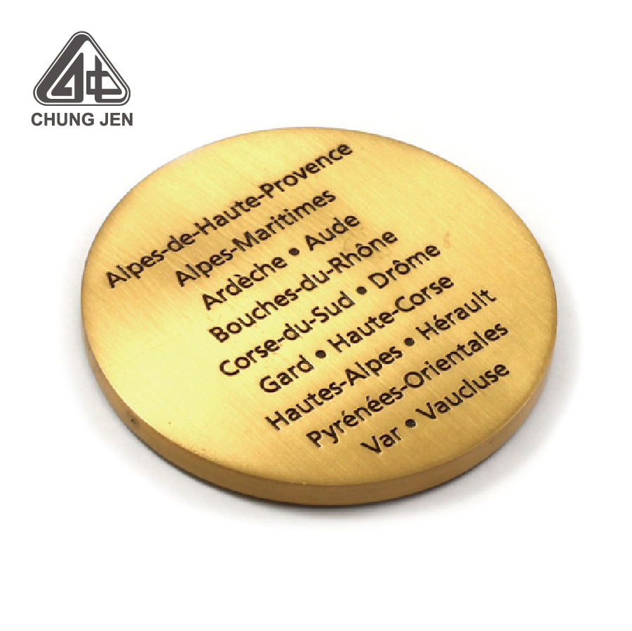 Custom Insurance Antique Gold Coin with Logo