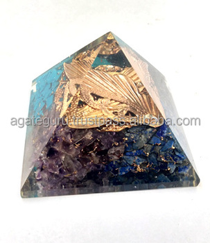 Four Colour Orogne Golden Logo Orgone Pyramid