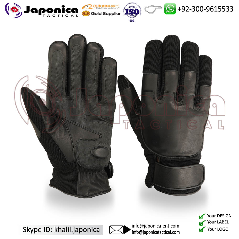 Cut Resistant Kevlar Leather Tactical Gloves Weapon Handling New Model Police Gloves