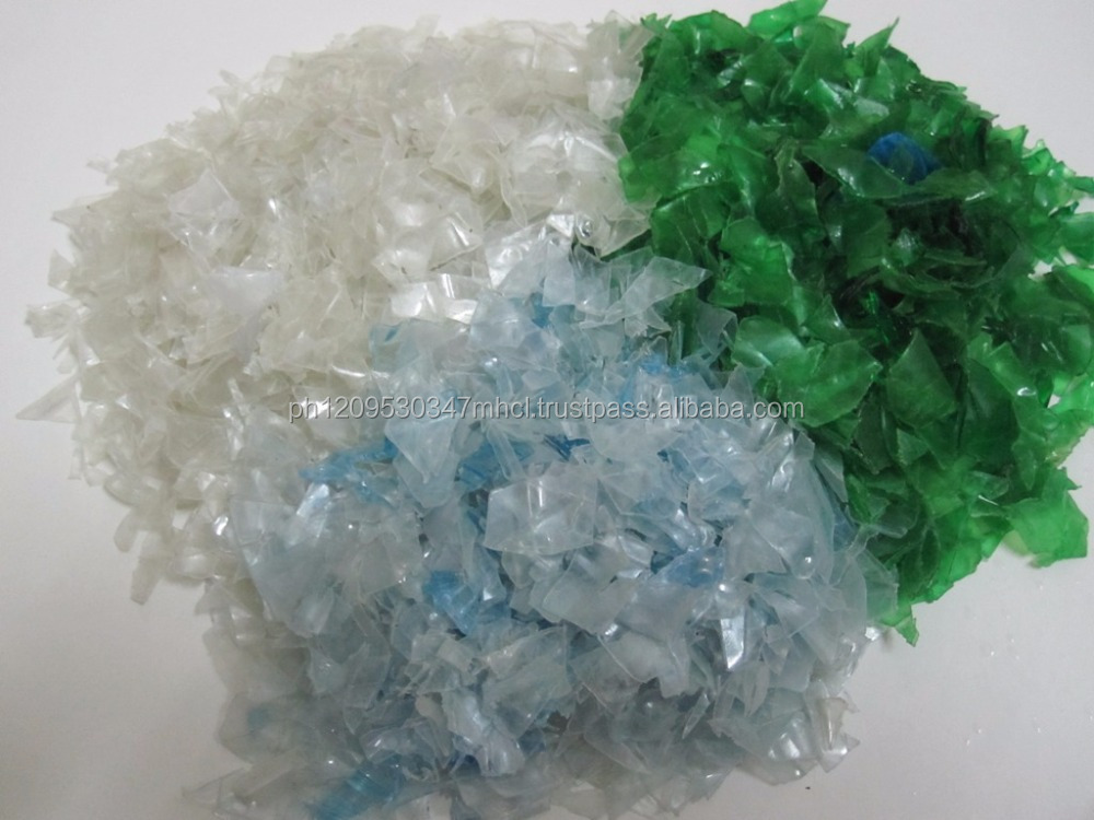 Hot & Cold washed 100% clear PET bottle scrap / PET flakes