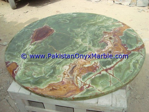 Natural Dark green color onyx table tops