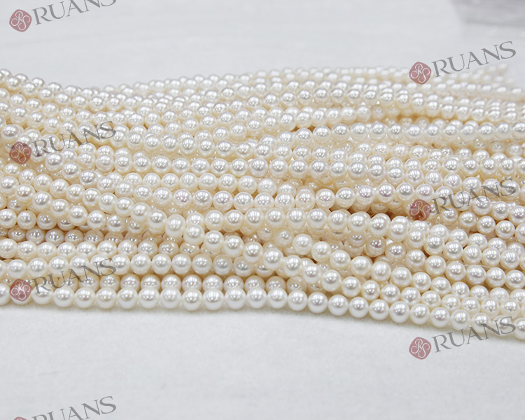 9-10 mm AAA1 clean round white China freshwater pearl strands wholesale
