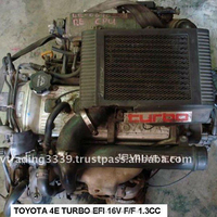 USED JAPANESE CAR ENGINE AND AITO PARTS TOT 4E-FTE - FF 5SP
