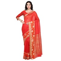 Picturesque Red Colored Woven Banarasi Silk Casual Wear Saree