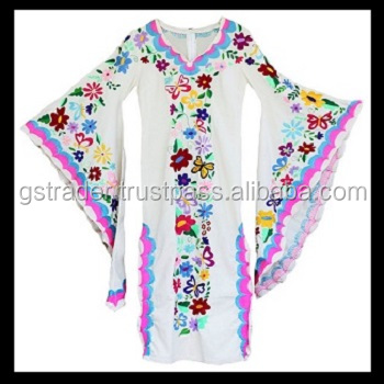 kaftan wholesale cotton kaftan dress multicolor butterfly design kaftan india