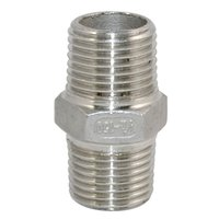 254 SMO Compression Tube Fittings Hex Nipple