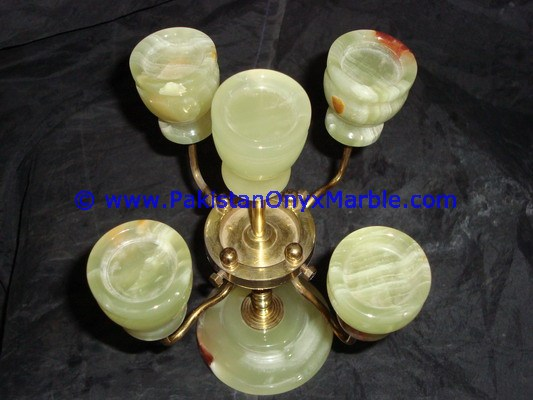 Onyx Brass Candle Holder Exporter Quality