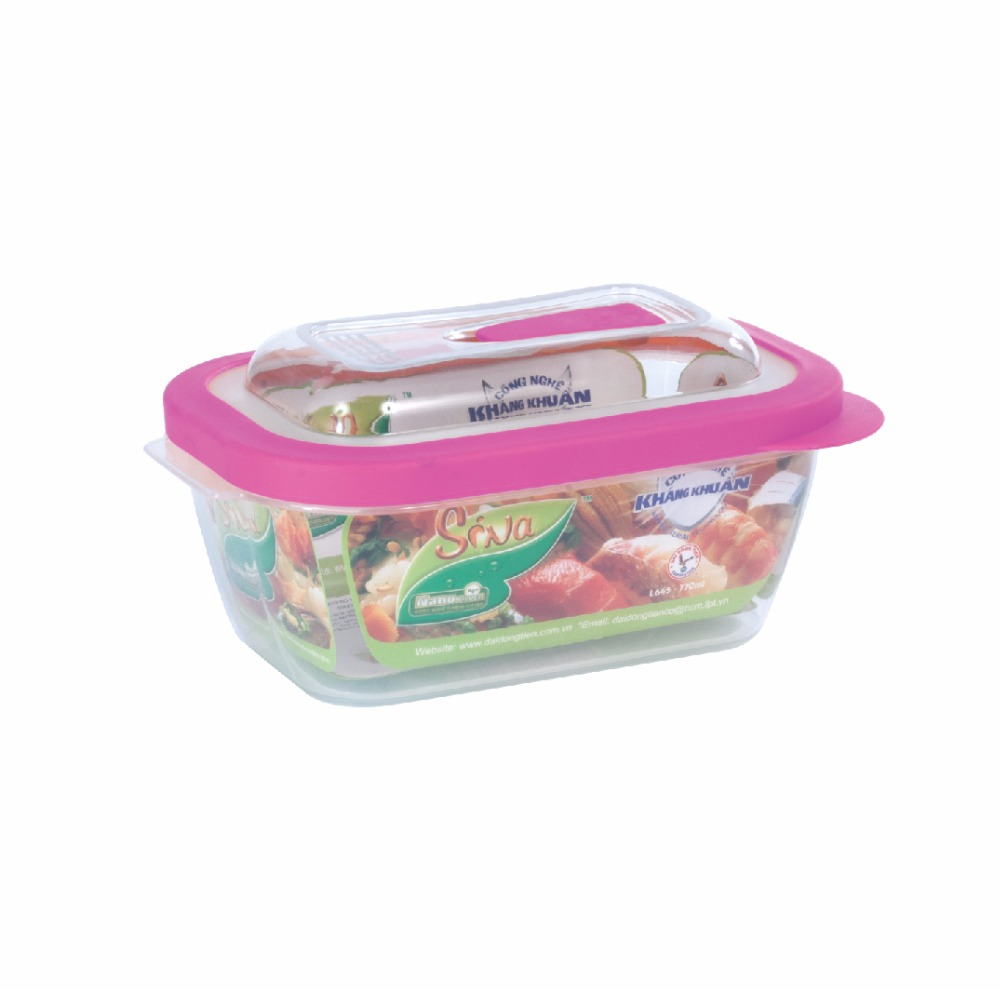 Plastic Lid Storage pp Food Cont. 1800 ml freshness grade lunch box microwave oven- Dai Dong Tien 's products OEM/ODM Service