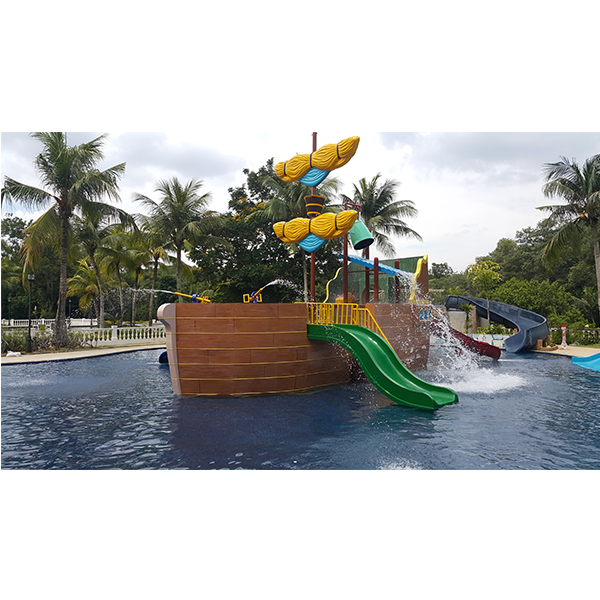 Water Theme Park Play Equipment Pirate Ship and Wet Playgrounds For Sale