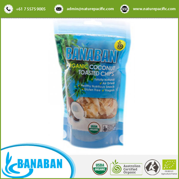 100% Natural Air Dried and Healthy Organic Coconut Chips for Wholesale