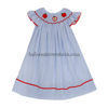 Apple hand smocked baby girl dress