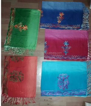 Low Price Pashmina Viscose Shawl with kashmiri Embroidery