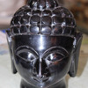 Black Marble Stone Buddha Carved Statue