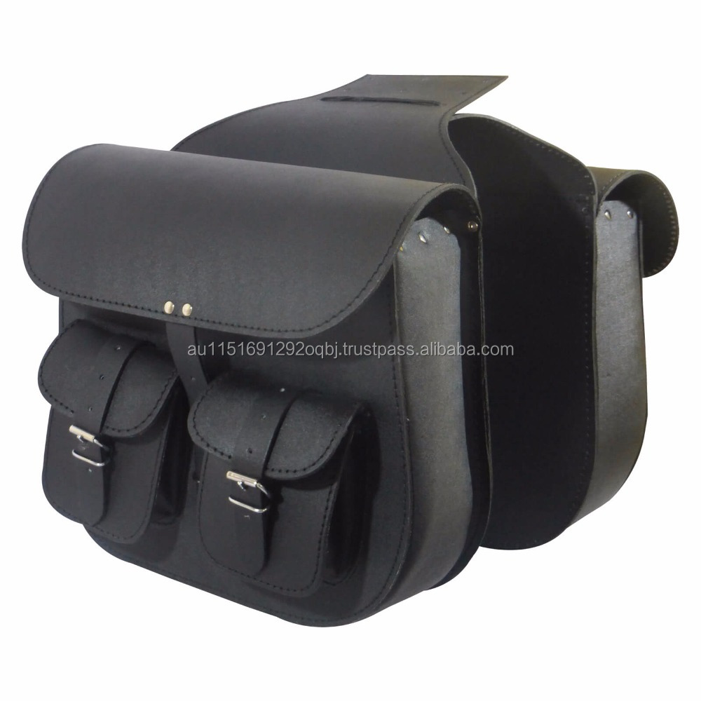 Motorcycle Leather bag Cruiser Saddle bags-2 bags