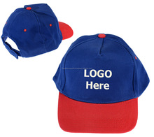 Quality Cheap 2-Tone Blue Red Baseball Caps Hats Embroidered