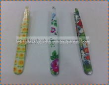 Eyebrow LED lighted stainless steel Tweezers with beauty shape