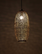 Hanging Moroccan Metal Lamp 100% Handmade Hand Etched by H A International