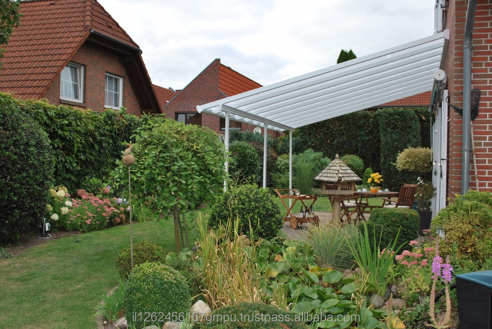 PALRAM Feria patio cover 4x4.2 meter White- Clear