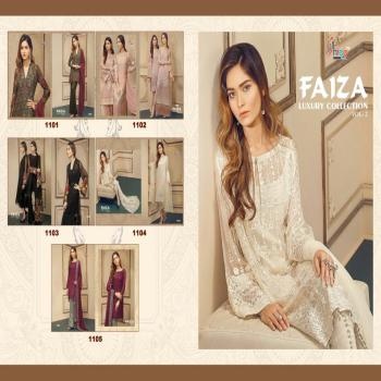 Shree Fab Faizaa Luxury Collection -2 Foux Georgette With Embroidered Unstitched Salwar kameez, Suit For Indian Pakistani Women.
