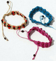 Hand Woven Thread Tropical Seed Bracelets Wholesale, Artisan Jewelry Supply