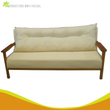 living room meuble mahogany solid wood and fabric sofa made in indonesia Home Furniture