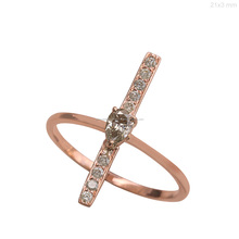Full Cut Diamond Solid 18kt Rose Gold Fine Ring Jewelry