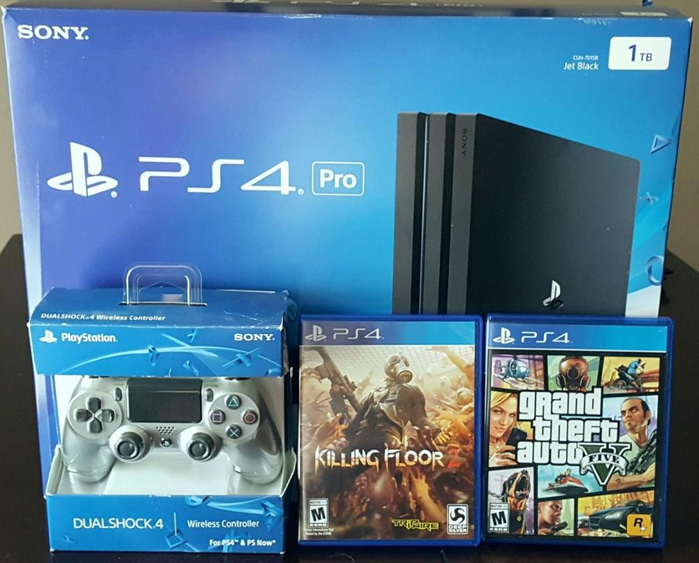 BUY 2 GET 1 FREE SONY PLAYSTATION 4 1TB PS4 Console 20 GAMES & 2 controllers