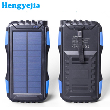 Waterproof 600000mAh Dual USB Portable Solar Battery Charger External Battery Pack