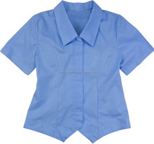 Wholesale Sky Blue Girl's Blouse High School Uniform