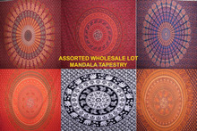 Hippy Indian Mandala Tapestry Bedspread, Bedsheet Cotton Wall Hanging Decorative Tapestry