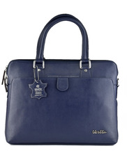 Vestta Latest Design Blue Genuine Leather Women Laptop Bag