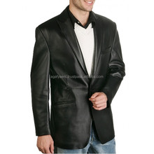 Leather Waxed Coat / Leather Blazer
