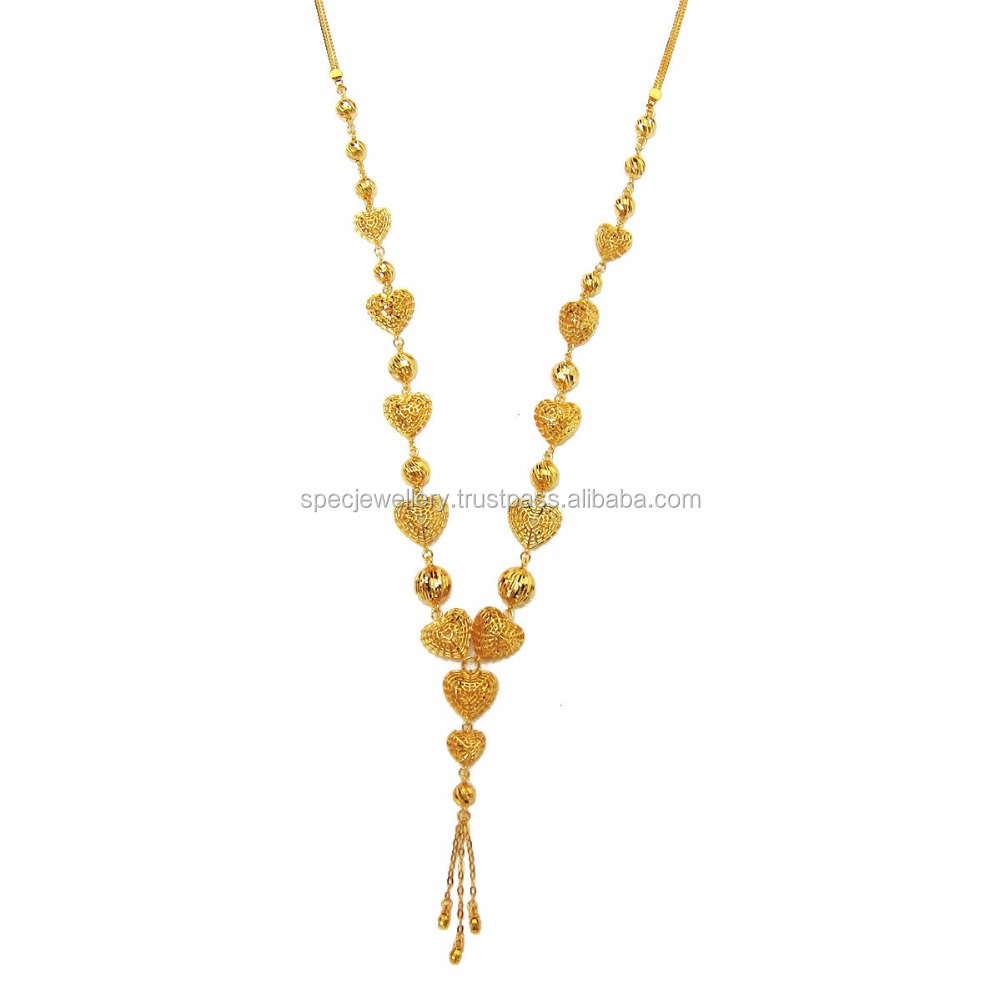 18K 21K 22K Real Fine Gold Jewelry Necklace Middle East Dubai Arabic Women Accessories