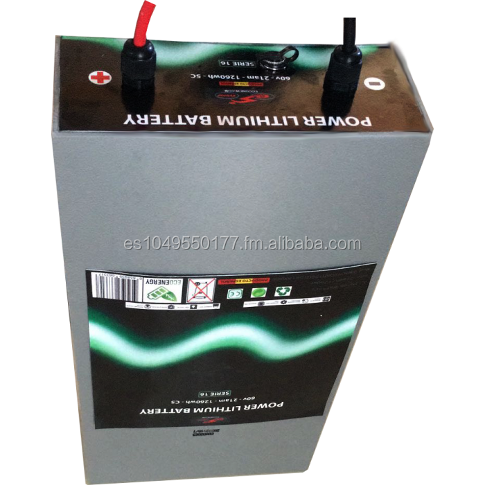 Lithium Battery 60 Volts 21 Amperes for Electric Vehicles