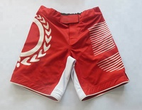 Custom Polyester Full Sublimated Mma Fight Short 4 way Stretch Mma Shorts