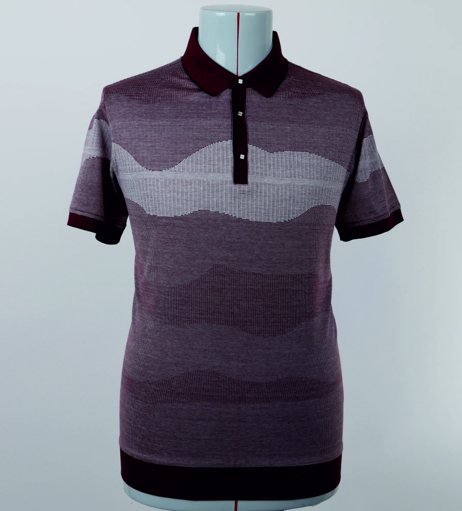 Best product %100 cotton mercerized Jaquard polo T-shirt