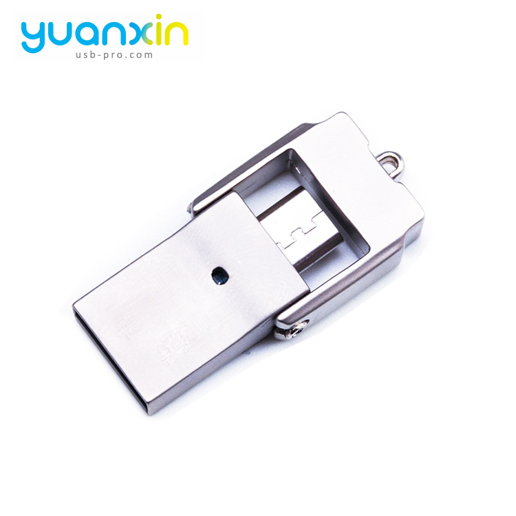 Magnetic Micro U Disk Pen Pendrive Usb 3 Swivel Flash Drive Otg 16Gb 32GB Cable