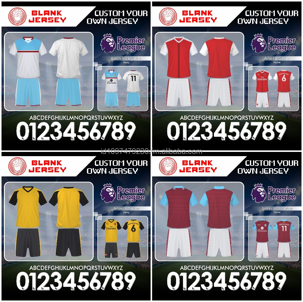 Custom Sublimation Soccer Jerseys 2015-16