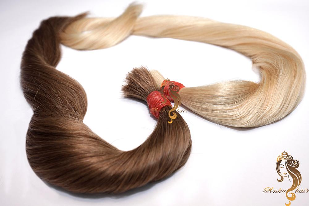Cabelo Bruto Unico_40cm_Ondulado_100% Cabelo humano natural do Vietname_Single Drawn Bulk Hair_40cm_100% natural Vietname hair
