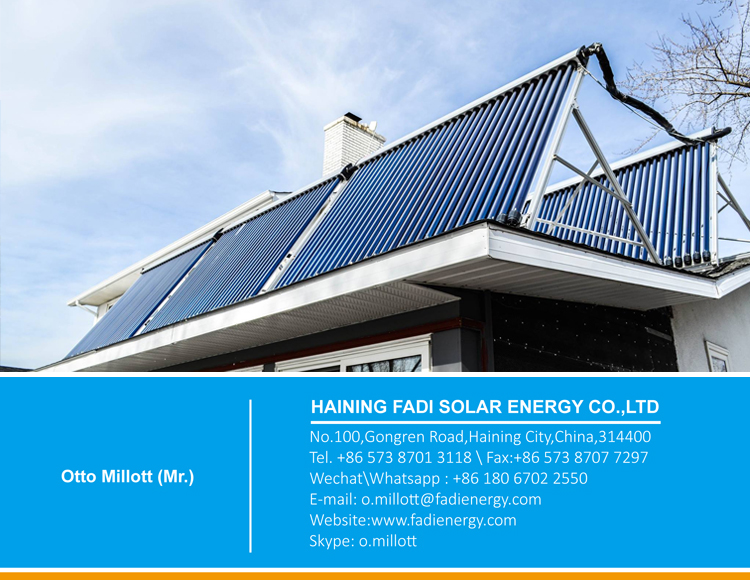 Zinc coated color steel pressurized water heater solar