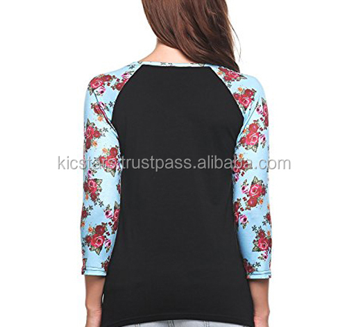 Latest Custom Printing Women's Long Sleeve T Shirt